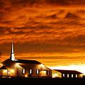 Country Church Sundown by Keith Bridgman