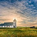 Country Church Sunrise by Rikk Flohr