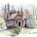 Country Church by Val Stokes
