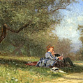 Country Couple by Alfred Wordsworth Thompson