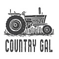 Country Gal Tractor Tee by Edward Fielding