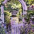 Country Garden Gate by David Lloyd Glover