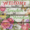 Country Garden Sign-e by Jean Plout
