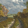 Country Lane In Fall by Jayne Wilson