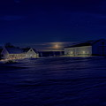 Country Living Under The Full Moon by Dale Kauzlaric