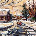 Purchase Best Original Quebec Winter Scene Paintings Achetez  Paysage De Quebec Cspandau Art by Carole Spandau