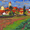 Country With The Red Roofs by Vitali Komarov