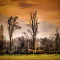 Countryscape With Bell Tower by Roberto Pagani