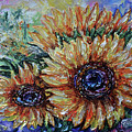 Countryside Sunflowers by OLena Art Brand