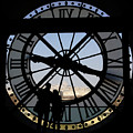 Couple And Clock D'orsay Museum Paris by Lawrence S Richardson Jr