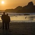 Couple At Harris Beach 0197 by Bob Neiman