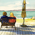 Couple At The Beach by Ray Cole