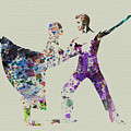 Couple Dancing Ballet by Naxart Studio
