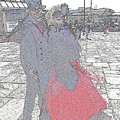 Couple In Red by Nicola Graham