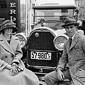 Couple With Their Peerless Car by Underwood Archives