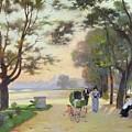 Cours La Reine Paris by Jules Ernest Renoux