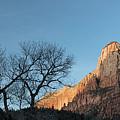 Court Of The Patriarchs Sunrise Zion National Park by Steve Gadomski
