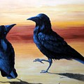 Courting Crows by Xochi Hughes Madera