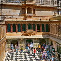 Courtyard, City Palace, Udaipur by Doug Matthews