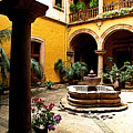 Courtyard Off The Cafe by Mexicolors Art Photography