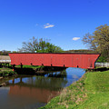 Covered Bridge And Reflection by Terri Morris
