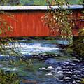 Covered Bridge And  Wissahickon Creek by Joyce A Guariglia