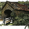 Covered Bridge At Yachats Oregon by Donald Aday
