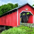 Covered Bridge In Canada by Mel Steinhauer