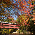Covered Bridge Over The Swift River In Conway by Jeff Folger