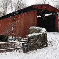 Covered Bridge Over The Wissahickon Creek by Bill Cannon