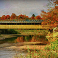 Covered Bridge Vermont Autumn by Deborah Benoit