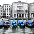 Covered Gondolas In Blue by Frozen in Time Fine Art Photography