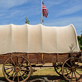 Covered Wagon At Fort Bluff by Tikvah's Hope