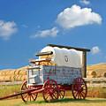 Covered Wagon - Bar U Ranch Alberta Canada by Ola Allen