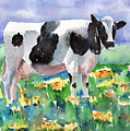 Cow In The Meadow by Arline Wagner