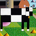 Cow Squared With Barn Left by Bruce Bodden