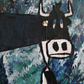 Cow With A Pearl Earring by JOANNE McCubrey