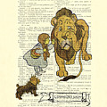 Cowardly Lion, The Wizard Of Oz Scene by Madame Memento