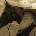 Cowboy And His Horse by Timothy Needham