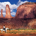 Cowboy And Three Sisters by William Freebillyphotography