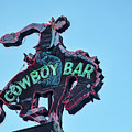 Cowboy Bar Vintage Neon Sign Photograph Western Wall Art by Gigi Ebert