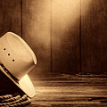 Cowboy Hat In The Old Barn by American West Legend By Olivier Le Queinec