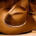 Cowboy Hat - Sepia by Olivier Le Queinec