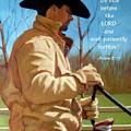 Cowboy In Pastel With Scripture Verse by Joyce Geleynse