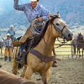 Cowboy Roping A Steer by Diane Diederich