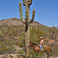Cowgirl And The Crested Saguaro by Beth Morris