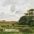 Cows In A Meadow by Pierre Emmanuel Eugene Damoye