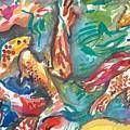 Coy Pond Fish by Sarah Drum