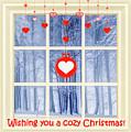 Cozy Christmas Card by Susan Lafleur