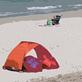 Cozy Hide-a-way For Two On A Florida Beach by Allan  Hughes
